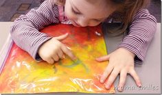 no-mess finger painting for kids. love this for making letters!