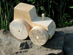 Rustic Barn Wood Tractor by RusticToys on Etsy, $30.00