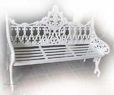 Rustica House old European rustic garden bench for three occupants is hand crafted of aluminum metal. It makes this outdoor park furniture very rigid and weather resistant. #myRustica