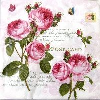0410 Servilleta decorada flores