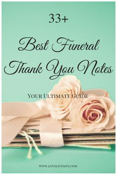 Sample wording for a funeral thank you note for a money ...