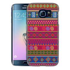 Samsung Galaxy S6 Edge Aztec Andes Pink BackGround Slim Case