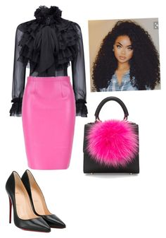 """Untitled #50"" by josiegyall on Polyvore featuring WithChic, Christian Louboutin and Les Petits Joueurs"