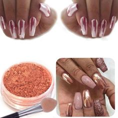 Sexy Rose Gold Nail Mirror Powder Glitter Chrome Powder Art Decoration deco ongle nagel steentjes 3d nails