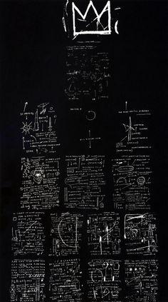 1982  J.M. Basquiat  Tuxedo  Seérigraphie sur toile  260,8x151,8 cm  New York Courtesy ToNew York Shafrazi Gallery #Graffiti #NewYork #Design