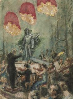 Conservatorium concert kleine zaal concertgebouw: The concert von Martin Monnickendam, 1930.