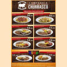 Os pratos executivos da Companhia do Churrasco são uma delícia e tem preços que cabem no seu bolso. Venha experimentar!