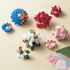つまみ細工 剣菊の応用で作る物 の画像 つまみ細工 花ちりめん