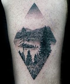 Diamond Male Forest Detailed Arm Tattoo Ideas …