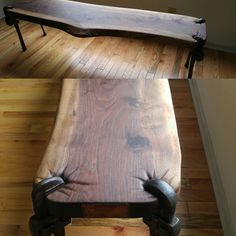Wrench bench, pipe wrenches and black walnut, and a pinch of welding. by Jeffro Uitto