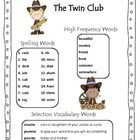 Created by: Danielle Goodman for The Twin Club    Scott Foresman Common Core 2013, Unit One, Second Grade    Includes:   Spelling Word Lists and Spellin...