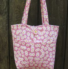 PRETTY AND PINK Tote Bag by ByFreddismom on Etsy,