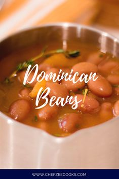 Dominican Red Beans Recipe, Dominican Recipes, Spanish Beans, Spanish Food, Habichuelas Guisadas, Dominican Republic Food, Cuban Recipes, Amish Recipes, Dutch Recipes