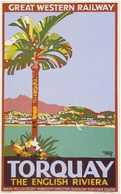 1929 GWR Torquay Railway Poster (http://shop.actionposters.co.uk/ )