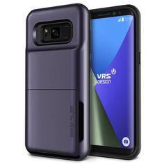 Verus Damda Folder Case - висок клас хибриден удароустойчив кейс с място за кр. карти за Samsung Galaxy S8 Plus (лилав):… www.Sim.bg