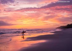 Santa Teresa Costa Rica, Sunset Surf, White Sand Beach, Pacific Coast, Aerial View, Waterfall, Surfing, Tours, Adventure