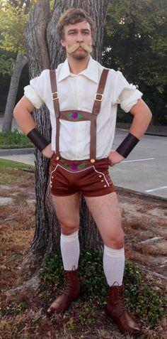 German Brawler Leaderhosen Outfit, Leaderhosen Costume Ideas, Oktoberfest…