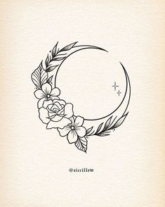 Little floral moon available to tattoo, dm or email for bookings, thanks for looking . Mini Tattoos, Cute Tattoos, Flower Tattoos, Body Art Tattoos, Small Tattoos, Flower Design Tattoos, Art Drawings Sketches, Love Drawings, Tattoo Drawings