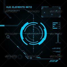 Buy HUD and GUI set. HUD and GUI set. Vector illustration for your design Interface Design, User Interface, Hologram Technology, Shark Logo, Library Images, Head Up Display, Technology Design, Screen Design, Data Visualization