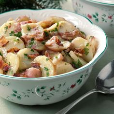 Need German potato salad recipes? Get German potato salad recipes for your next meal or gathering. Taste of Home has lots of delicious German potato salad recipes including hot and cold German potato salads, and easy German salad recipes. Authentic German Potato Salad, Funeral Food, German Potatoes, Potato Dishes, Vintage Recipes, Soup And Salad, Salad Recipes, Pie Recipes, Appetizer Recipes