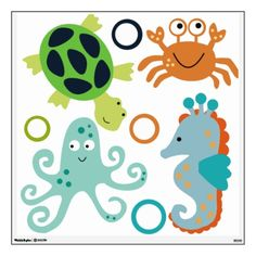 Bubbles and Squirt Sealife Wall Decals