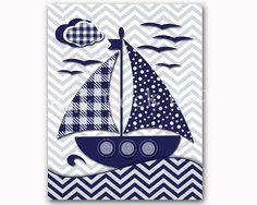 Nautical nursery decor, navy nursery, nautical bath decor, kids bathroom, nautical baby shower, custom baby boy room art, children artwork by PinkRockBabies on Etsy https://www.etsy.com/listing/209415305/nautical-nursery-decor-navy-nursery