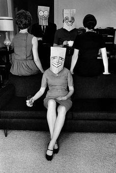 Ananas à Miami: Saul Steinberg's Mask series in the Foam Magazine by Inge Morath, 1962