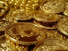 If you own gold jewelry or coins and want to sell, be careful: Scams abound. Here's how to make sure you don't get tarnished in a gold transaction. Josephine Montilyet, Golden Birthday Parties, Birthday Bash, Pirates Gold, Toni Mahfud, Gold Money, Gold Aesthetic, Gold Bullion, Bullion Coins