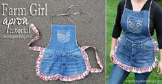 DIY - Art - Craft - Projects — (via DIY Farm Girl Apron Tutorial from Recycled jeans