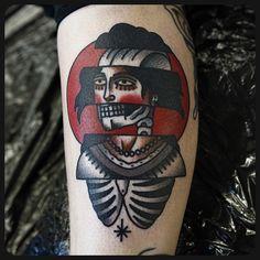 #woman #skull #skeleton #tattoo #tattoos Done at @sbldnttt