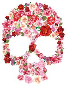 Day of The Dead...Flower Skull