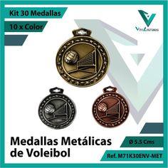 Entregamos sus Medallas en Medellin a Domicilio o Despachamos a Todo el Pais. Ref. M71K30ENV-MET Ø 6cms. Su Cotización en 20 Min. Sin Compromiso Kit, 20 Min, Michael Kors Watch, Pocket Watch, Metal, Cali, Accessories, Licence Plates, Volleyball