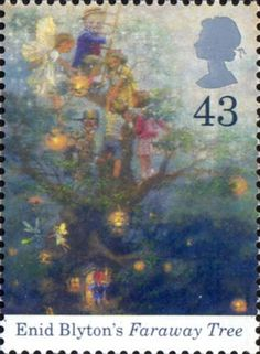 Birth Centenary of Enid Blyton 43p Stamp (1997) Faraway Tree. One of my favourite books as a child.