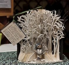 Edinburgh book sculptures. These are amazing
