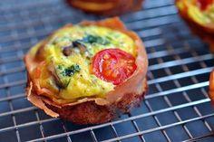 Prosciutto-Wrapped Mini Frittata Muffins by Michelle Tam http://nomnompaleo.com
