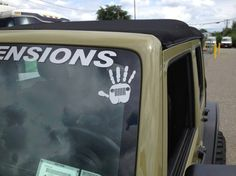 Want a Jeep Wave Decal!? Decals are available in Black, White, Silver and Pink! http://supportthejeepwave.ecrater.com/