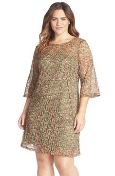 Gabby Skye Crochet Trapeze Dress (Plus Size) available at #Nordstrom