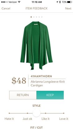 Love this cardigan and the green is beautiful, but I'll take any color but burnt orange, navy and grey-I have those already!