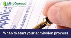 When to start your admission process. Need A Job, Choose Wisely, College Fun, Career Goals, Study Abroad, Improve Yourself, Student, This Or That Questions, Blog