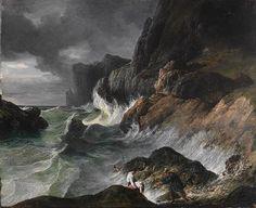 Horace Vernet: Stormy Coast Scene after a Shipwreck (2003.42.56) | Heilbrunn Timeline of Art History | The Metropolitan Museum of Art  #PadreMedium