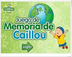 """""""Juego ecológico de memoria de Caillou"""" Caillou, Bingo, Memories, School, Kids, Play, Memory Games, Interactive Activities, Gaming"""