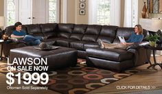 Create a living room that's sophisticated and welcoming with the Jackson Furniture Lawson Chaise Sectional Sofa . Designed with style, comfort, and function. Sectional Living Room Sets, U Shaped Sectional Sofa, Sectional Sofa With Chaise, Leather Sectional Sofas, Living Room Furniture, Reclining Sectional, Living Rooms, Brown Sectional, Wolf Furniture