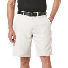 Ben Hogan Big Men's Performance Solid Flat Front Short, Size: 46, Silver