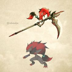 """Pokeapon No. 571 - Zoroark. #pokemon #zoroark #gunscythe #pokeapon"""