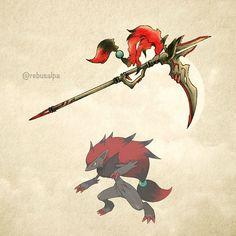 """Pokeapon No. 571 - Zoroark. #pokemon #zoroark #gunscythe #pokeapon"""