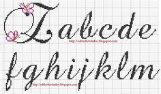Butterfly alphabet (Z,a-m)