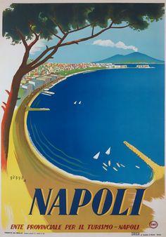 TV86-Vintage-1942-A3-NAPOLI-Naples-Italy-Italian-Travel-Poster-Reprint