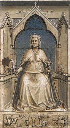 Giotto di Bondone ~ The Seven Virtues: Justice, 1306