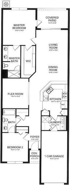 The St. Lucia, one of two floorplans available from the Villa Collection at Lennar's 55+ Heritage Isle Community. This beautiful new Villa home features 2 bedrooms, 2 bathrooms, and a Flex room.