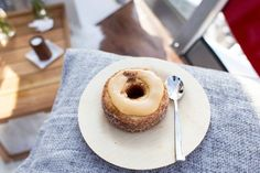 Salted Butterscotch and Cocoa Nib Cronut at Dominique Ansel Bakery in London